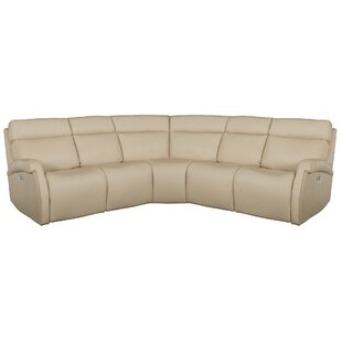 Shop Maddux Leather Reclining Sectional by Bernhardt