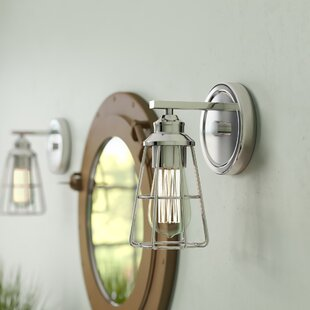 Comparison Silas 1-Light Bath Sconce By Breakwater Bay