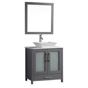Tahiti 30 Single Modern Bathroom Vanity Set with Mirror by MTD Vanities