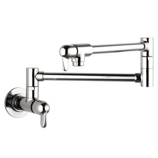 Allegro E Two Handle Wall Mounted Pot Filler