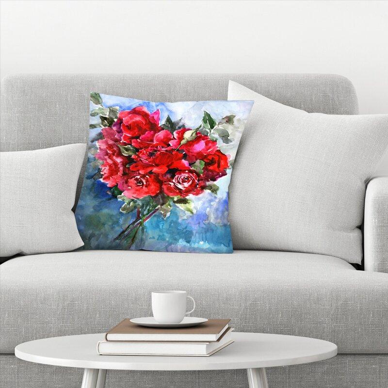 East Urban Home Suren Nersisyan Roses Throw Pillow Wayfair