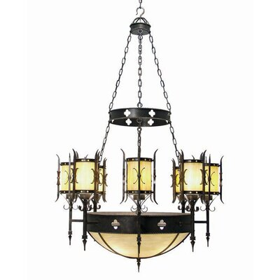 2nd Ave Design Sabrina 12-Light Shaded Chandelier Finish: Tuscan Ivory