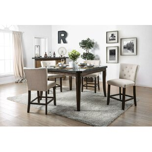 Jere 5 Piece Counter Height Dining Set