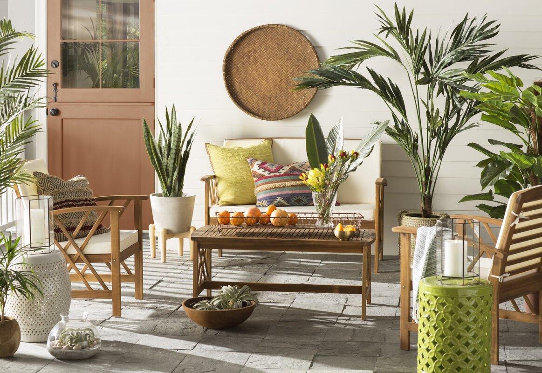 Safavieh Fontana 4 Piece Seating Group With Cushions Reviews
