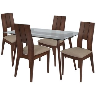 Kaden 5 Piece Dining Set by Ebern Designs