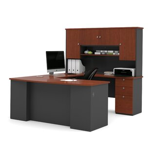 Alves Reversible Executive Desk with Hutch