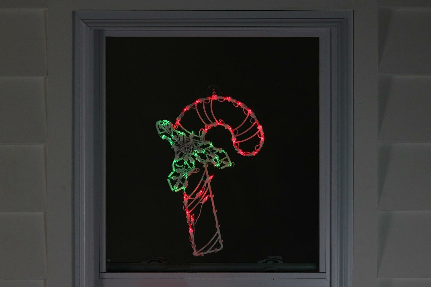 "18"" Candy Cane Christmas Window Silhouette Decoration Lighted Display"
