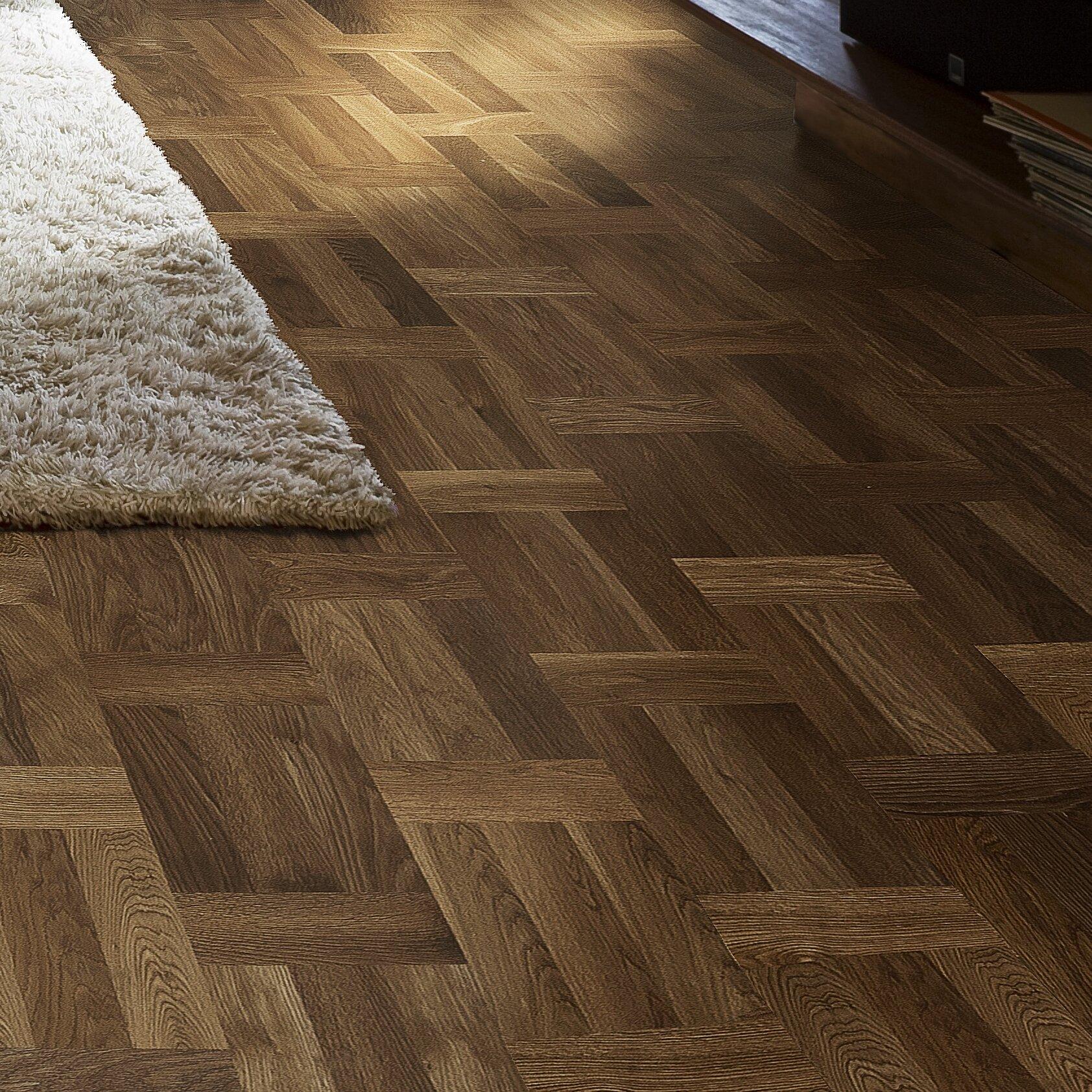 "European Renaissance Oak 5/5"" Thick x 5-5/5"" Wide x 5"" Length Engineered  Parquet Hardwood Flooring"