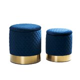Iconium 2 Piece Quilted Storage Ottoman (Set of 2) by Everly Quinn