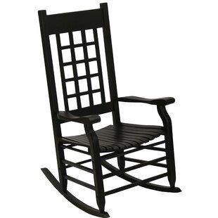 Alcott Hill Hutchcraft Slat Rocking Chair