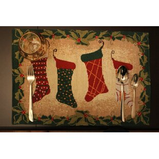 Best Stockings Placemat (Set of 4) By Tache Home Fashion