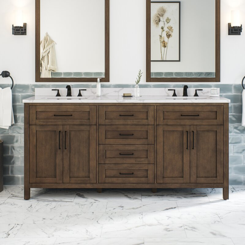 Gracie Oaks Guiliaine 72 Double Bathroom Vanity Set Reviews Wayfair