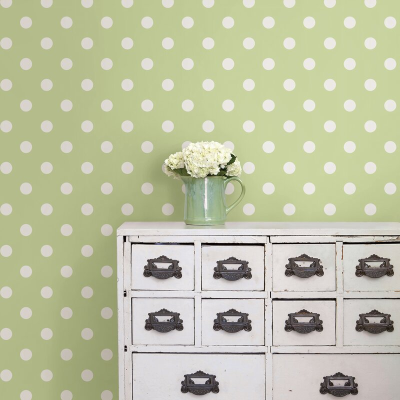 10 Best Mid-century Modern Wallpaper Ideas / Retro Wallpaper / Dottie Peel And Stick Polka Dot Wallpaper