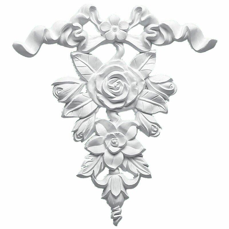 Ekena Millwork Versailles 9 H X 8 1 2 W X 3 4 D Ribbon And Rose Drop Onlay Reviews Wayfair