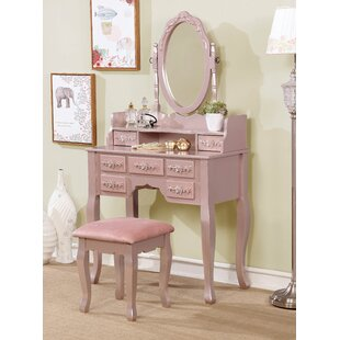 Rosdorf Park Lewallen Vanity Set with Mirror