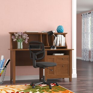 Humphery 2 Drawer Computer Desk With Hutch by Three Posts 2019 Sale