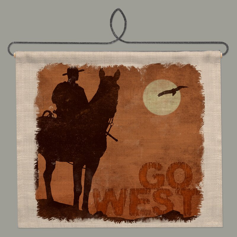 Millwood Pines Cowboy Country By Kate Ward Thacker Wall Hanging Wayfair