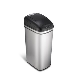 Nine Stars Stainless Steel 11.8 Gallon Motion Sensor Trash Can