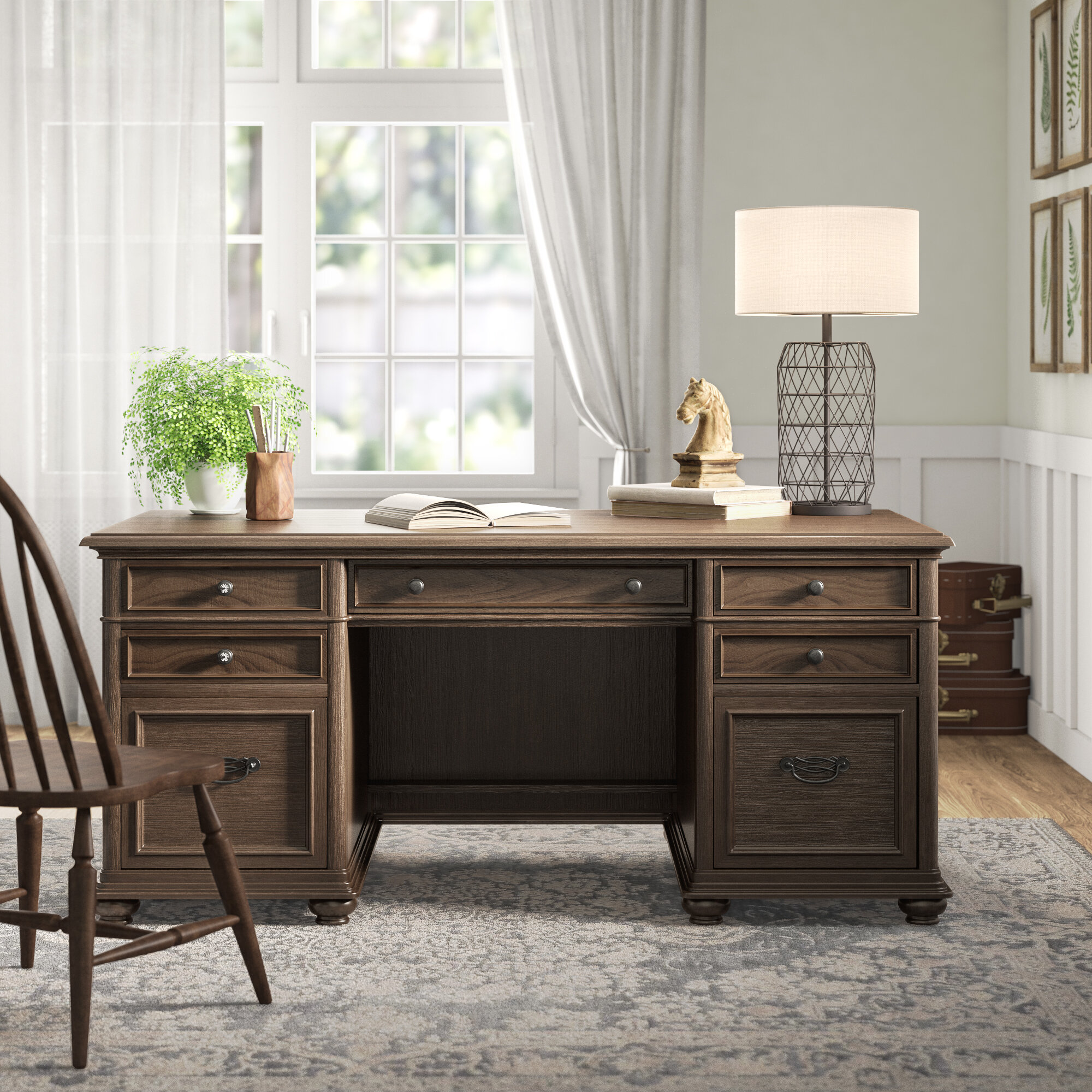 Admirable Canistota Bonita Westgrove Credenza Desk And Chair Set Short Links Chair Design For Home Short Linksinfo