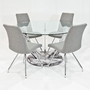 Hulett Dining Set With 4 Chairs