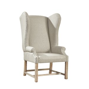 Furniture Classics LTD Grand Linen Wingback Chair Image