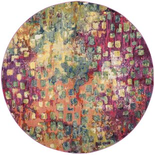 Feist Pink/Green/Yellow Area Rug by Mistana