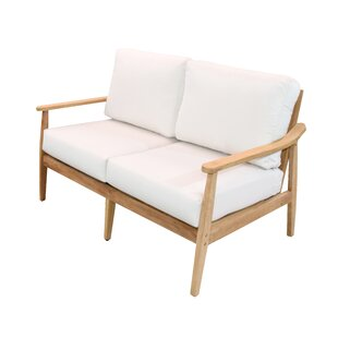 Amador Teak Loveseat with Sunbrella Cushions