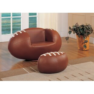 Knopf Kids Football Chair and Ottoman by Zoomie Kids