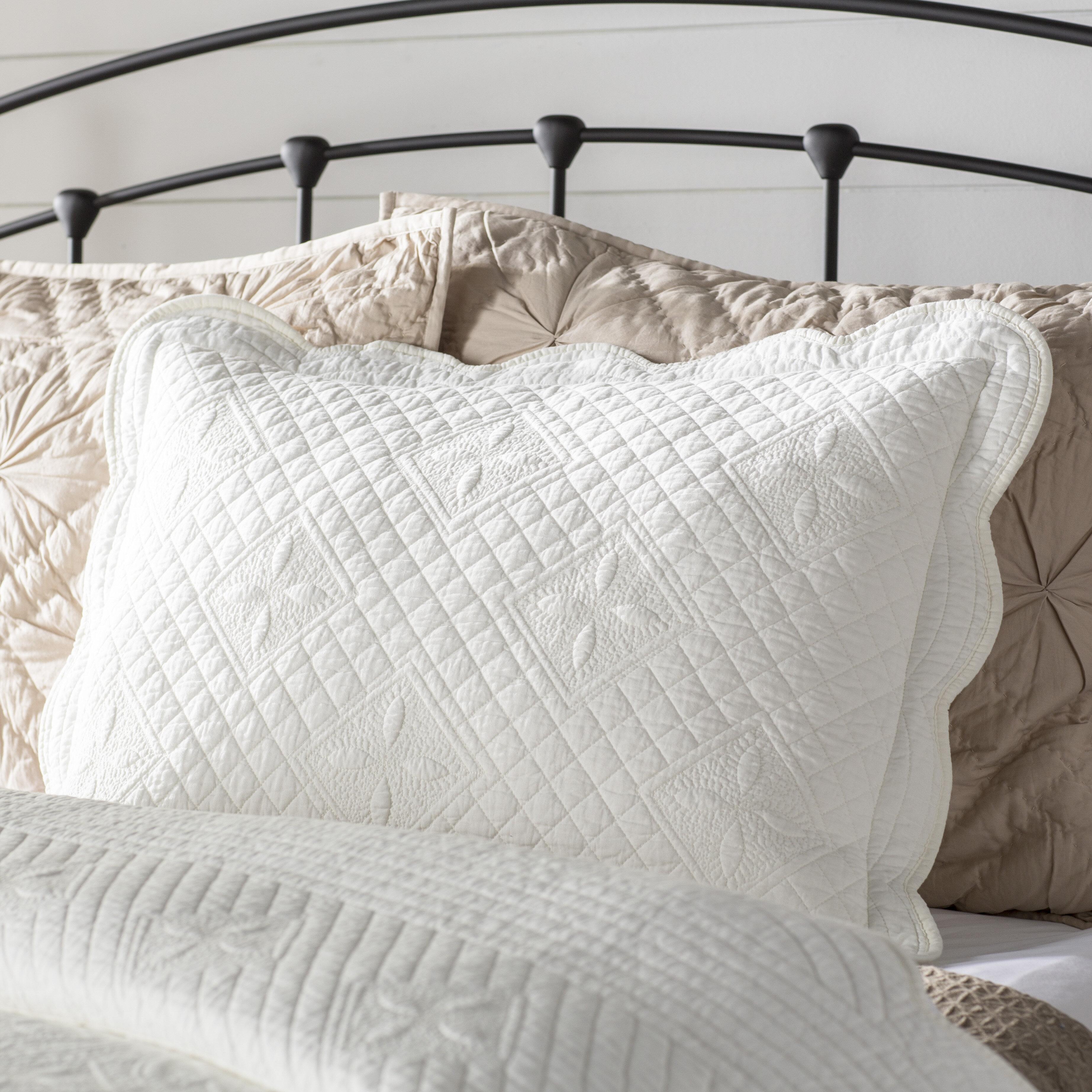 August Grove Georga Luxury Quilted Pillow Sham Reviews Wayfair