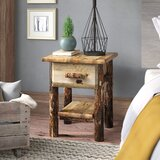 Tustin 1 - Drawer Solid Wood Nightstand in Med Brown