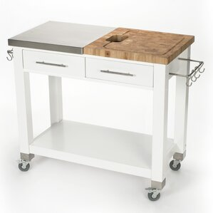 Pro Chef Kitchen Island with Butcher Block Top by Chris & Chris