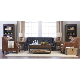 Darby Home Co Kashvi Leather Configurable..