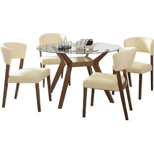 Infini Furnishings Sara 5 Piece Dining Set