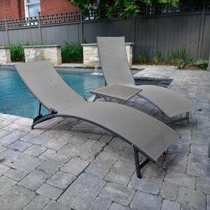 Gartenliegen-Set Midtown mit Tisch von Vivere