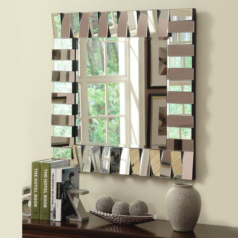 Latitude Run Square Silver Wall Mirror & Reviews | Wayfair