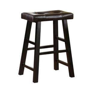 Rowen Rubber Wood Bar Stool (Set of 2) by Charlton Home