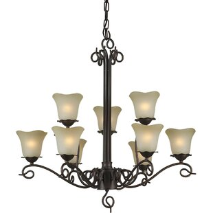 Charlton Home Cordia 9-Light Shaded Chandelier