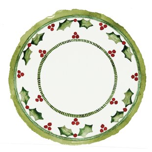 Holiday Holly Melamine 13 Piece Dinnerware Set, Service for 4