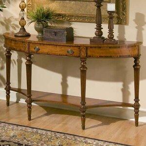 Connoisseur's Demilune Console Table by Butler