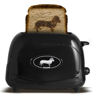 2 Slice Dog Dachshund Toaster