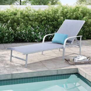 Online Purchase Vassilieva Outdoor Adjustable Reclining Chaise Lounge Great Price