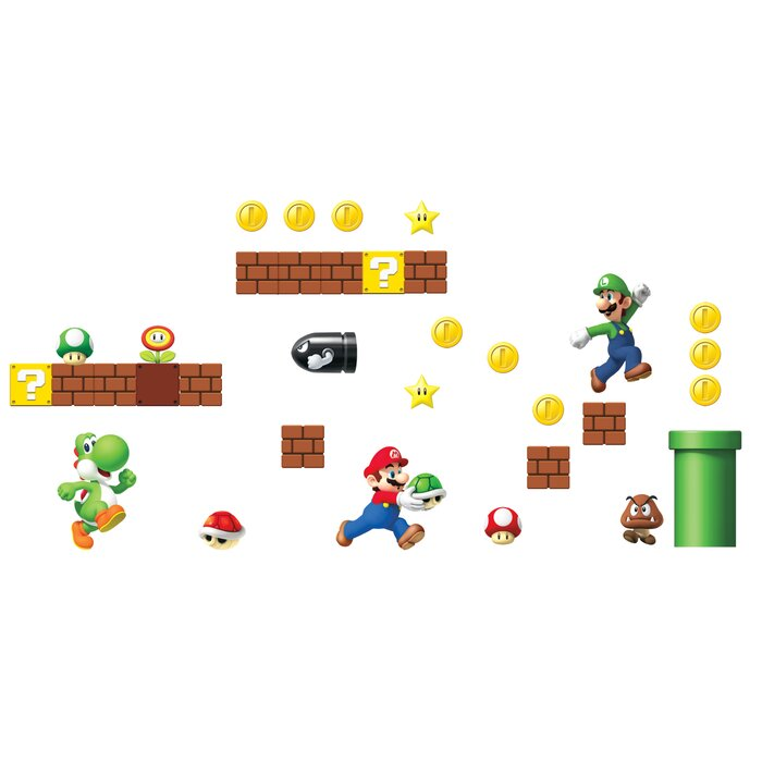 Nintendo 45 Piece Super Mario Wall Decal