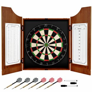 Coca-Cola Wood Dart Cabinet Set by Trademark Global