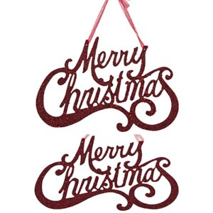 Holiday Merry Christmas Sign (Set of 2)