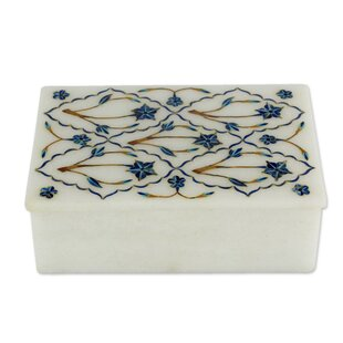 Compare prices Starflowers Marble Inlay Jewelry Box ByBloomsbury Market