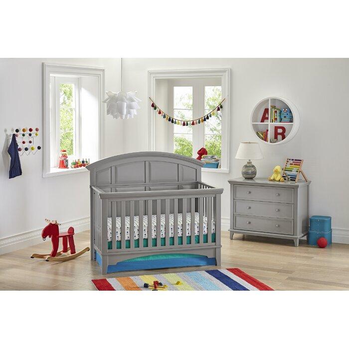 Brooklyn 4 In 1 Convertible Standard 2 Piece Nursery Furniture Set
