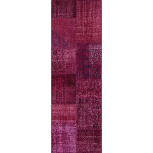 Affordable Lizabeth Antique Patchwork Hand-Knotted Pink Area Rug By Bloomsbury Market