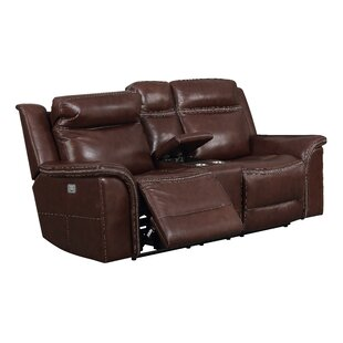 Ruvalcaba Leather Reclining Loveseat by Charlton Home