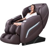 Faux Leather Power Reclining Heated Massage Chair
