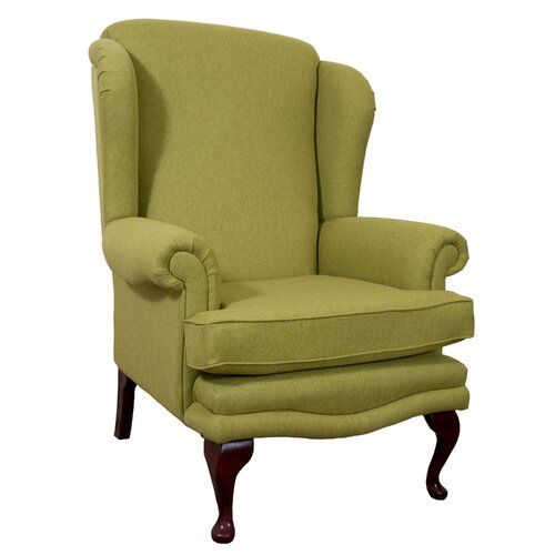 Clarkfield Wingback Chair Astoria Grand Upholstery: Linea Stone